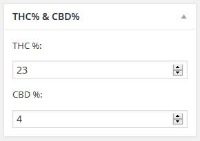 thc cbd option for dispensary menu