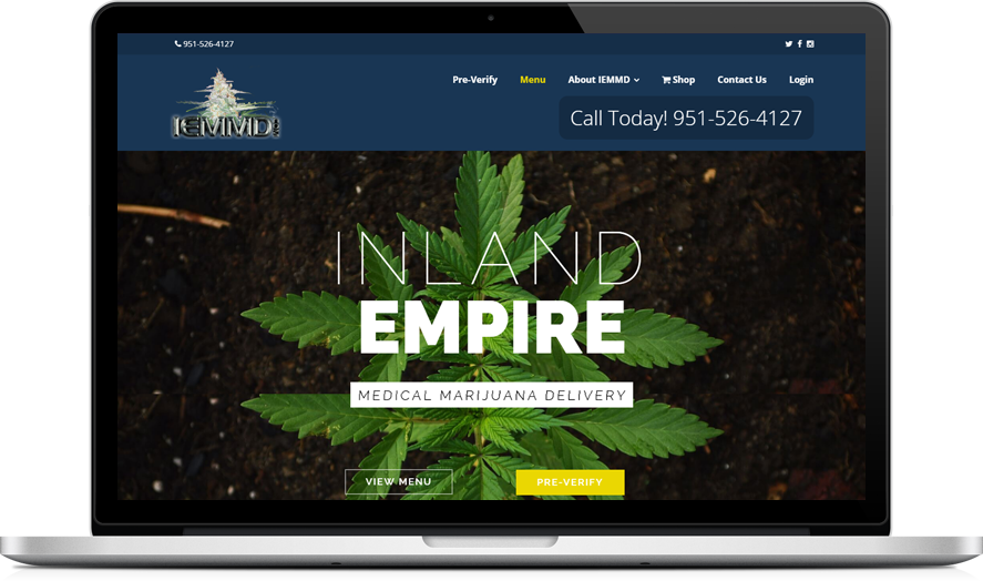 Inland Empire Medical Marijuana Delivery - CannaBiz WordPress theme example