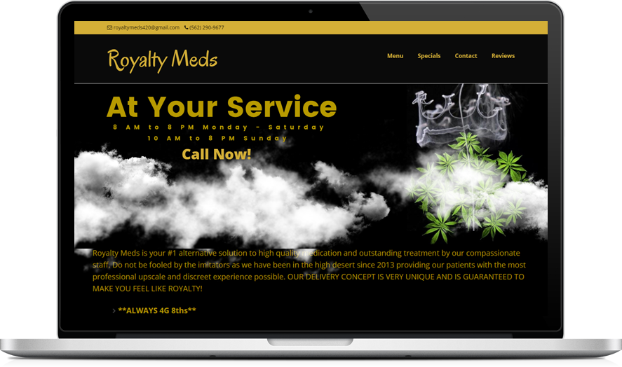 Royalty Meds - CannaBiz WordPress theme example