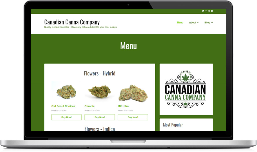 Canadian Canna Co. - CannaBiz theme showcase #2