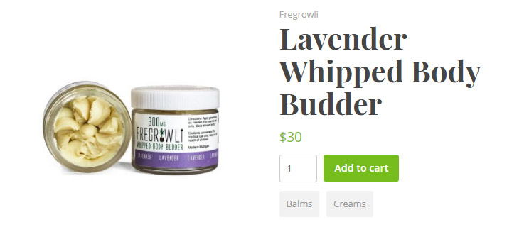 WP Dispensary eCommerce Lavender Whipped Body Budder