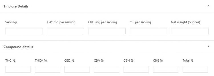 WP Dispensary Tinctures Compound Details
